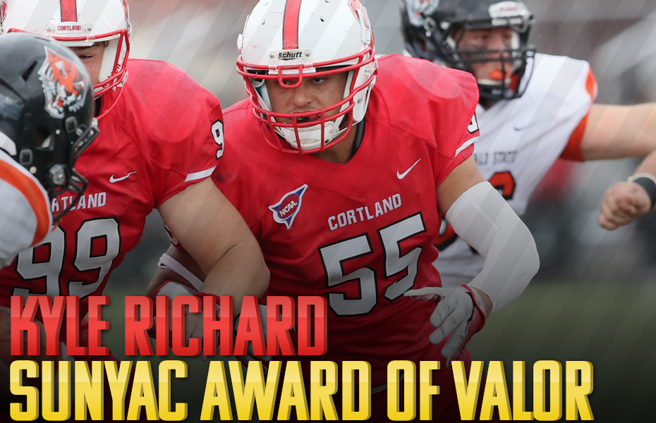 Cortland's Kyle Richard to receive SUNYAC Award of Valor