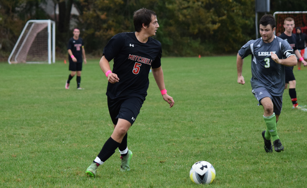Men's Soccer Holds On vs. Lesley