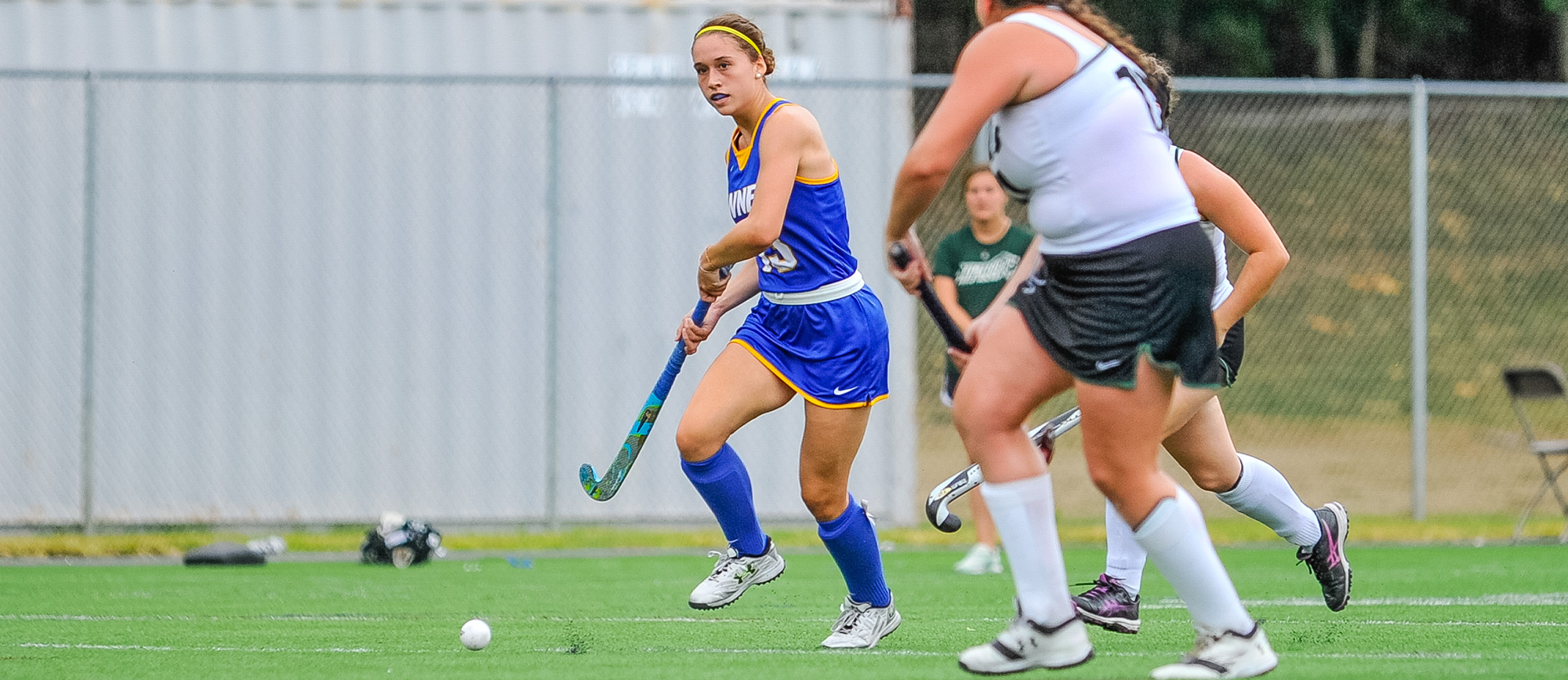 Junior Jackie Clark recorded two goals in Western New England's 4-3 loss to Clark on Saturday. (Photo by Bill Sharon)