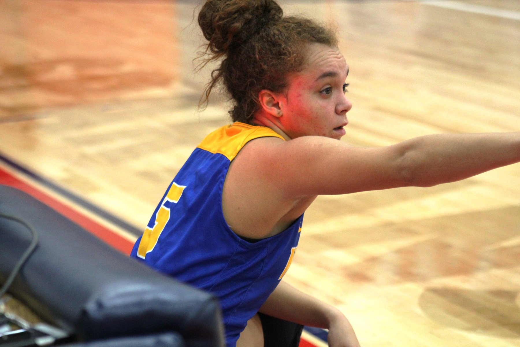 NIACC's Kelcie Hale waits to check in during a Dec. 8 game at Southwestern.