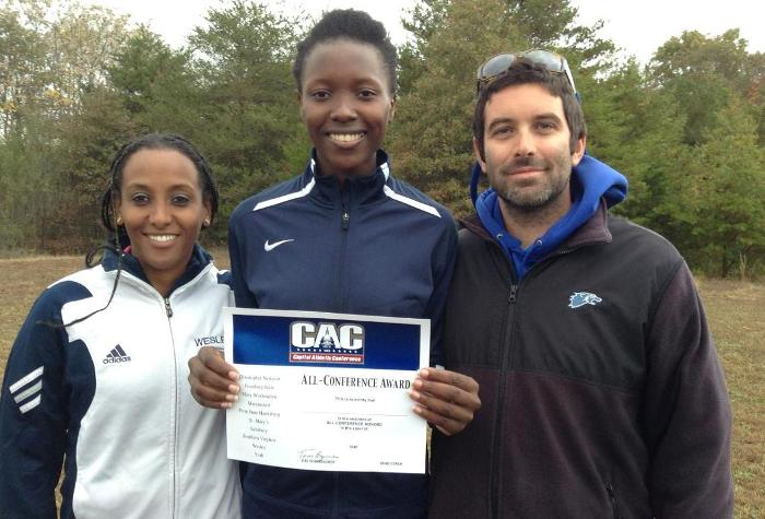 Desir Breaks Own School-Record, Leads Women's Cross Country to 6th at CAC Championship