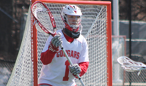 Drew Riopelle-Tyrrell finished with 19 saves against Skidmore - one shy of his career-high.