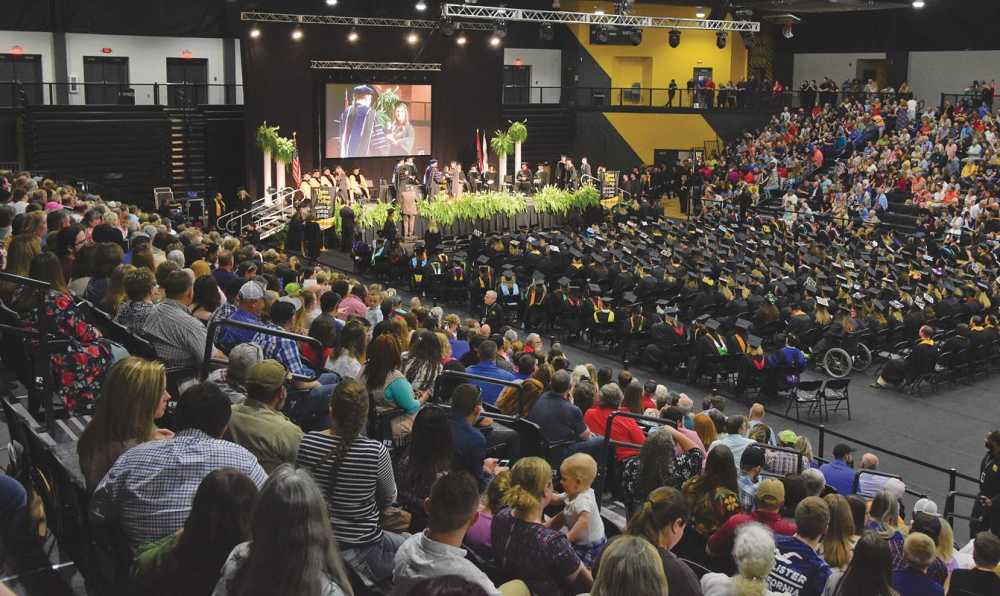 Three Rivers College celebrates commencement ceremony in new home