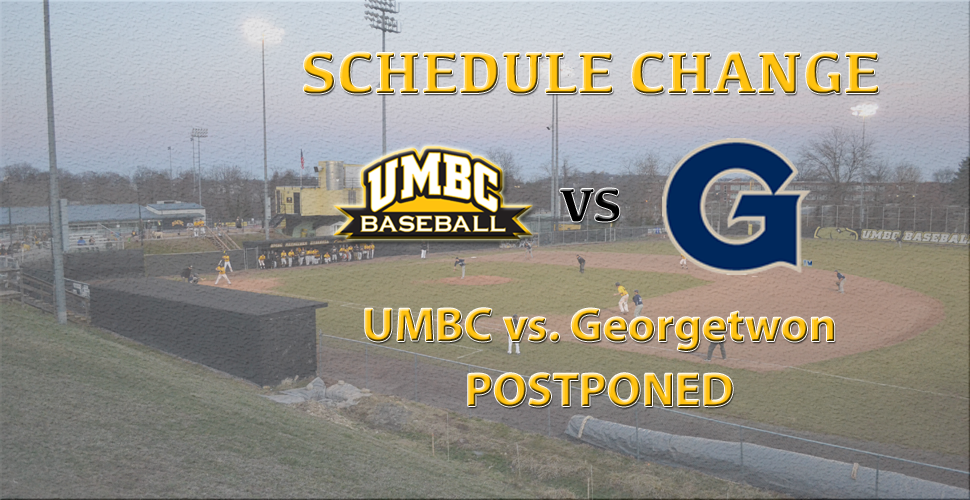 Baseball Versus Georgetown on Tuesday Postponed
