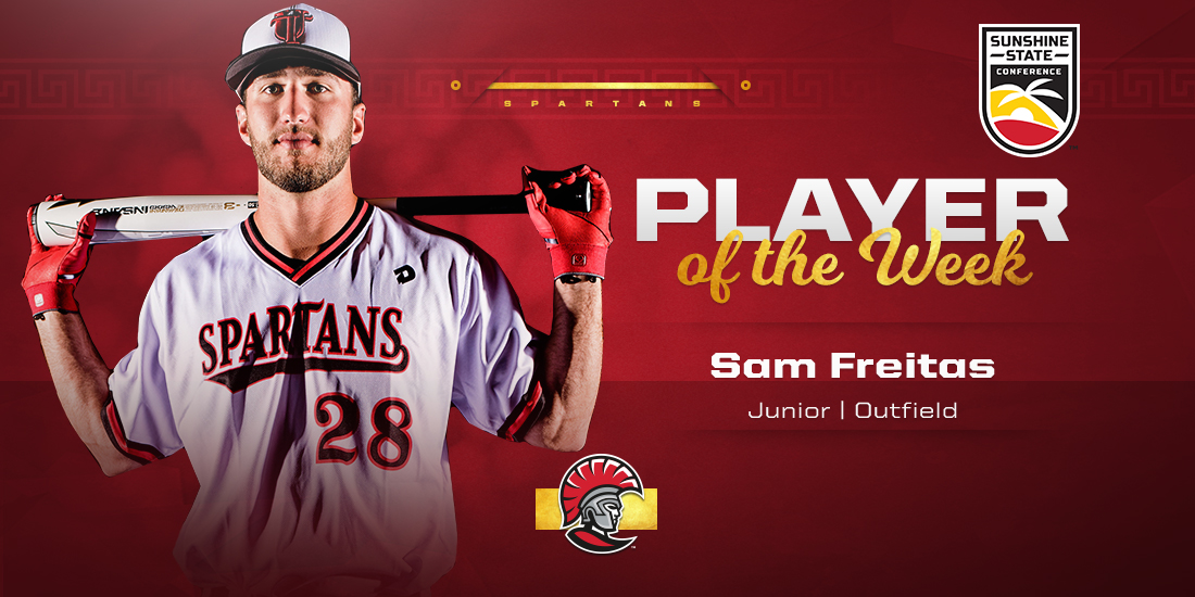 Sam Freitas Earns SSC Player of Week Recognition