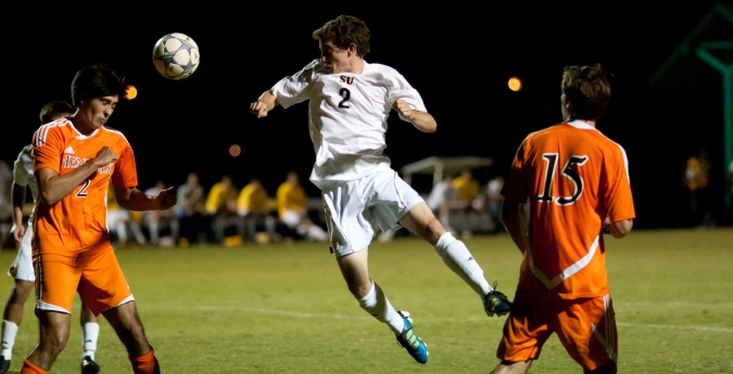 Men's Soccer remains undefeated in conference play with 2-1 win over TLU
