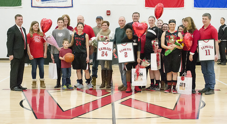 Women's Basketball Edged On Senior Day