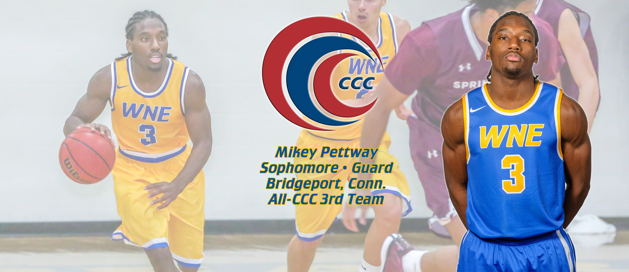 Mikey Pettway Named to All-CCC Third Team