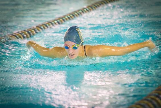 Women's Swimming Turned Away by Maritime, Mt. St. Mary in Conference Double-Duel