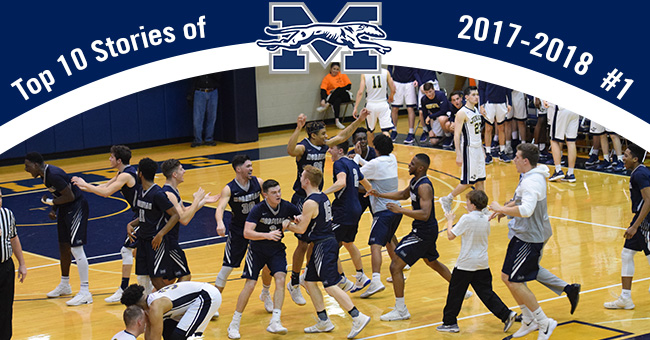 Number 1 on the Top 10 Stories of 2017-18 is the men's basketball team's first-ever Landmark Conference title.