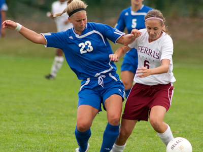 Senior Megan Stec and the Bulldogs fall in their regular-season finale this Saturday afternoon.  (Photo by Ben Amato)