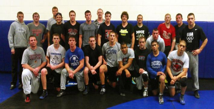 Ben Askren pictured sixth from right in back row