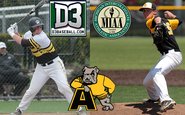 Opening Weekend for @AdrianBaseball Yields Honors from D3baseball.com and MIAA