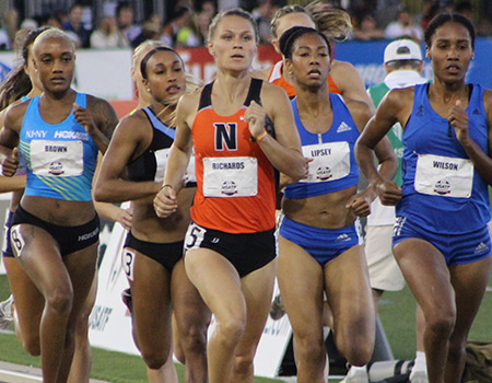 All-American Emily Richards advances to the finals of the 800 on Day 2 of the USATF Outdoor Championships