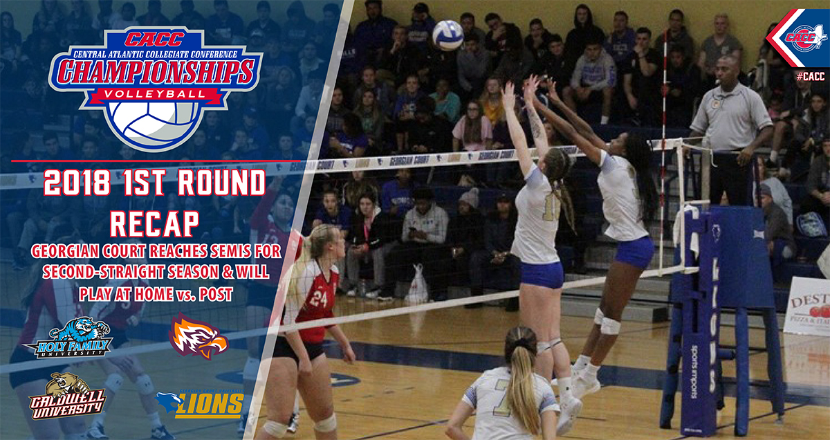 Top Seeds Hold Court in First Round of 2018 CACC Volleyball Championship on Tuesday Night