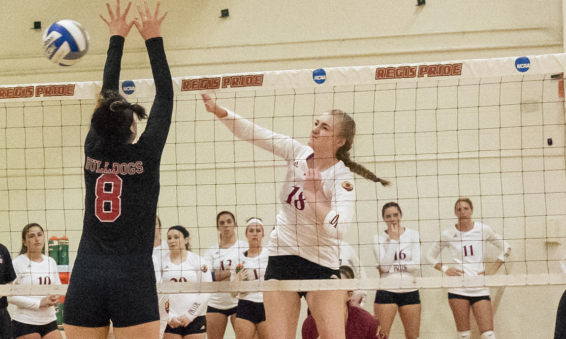 Regis Women's Volleyball Loses at Wentworth