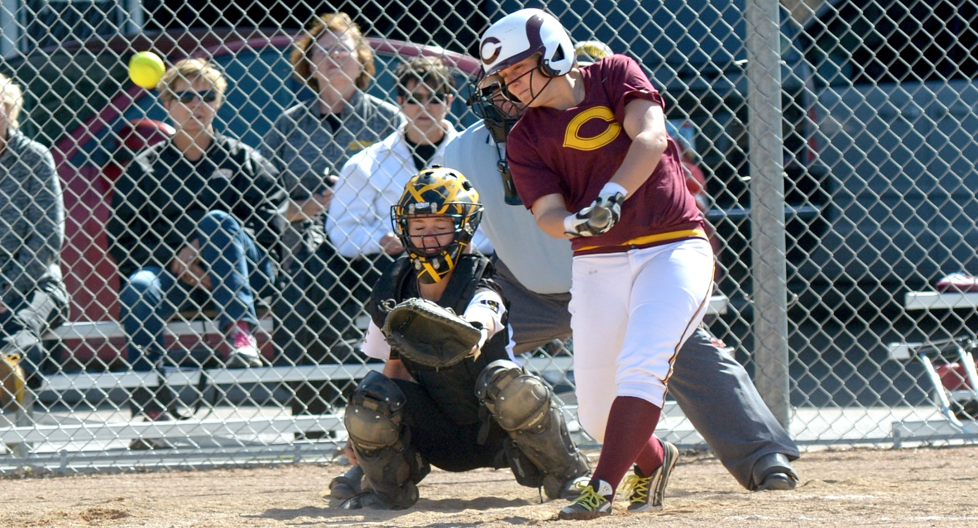 Sophomore Nicole Johannes was one of eight Cobbers to have a hit on the final day in Florida as CC split their two games.