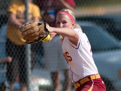 Makenzi Peterson's three hits helped key Ferris State's 5-2 decision over Lake Superior State this Saturday.