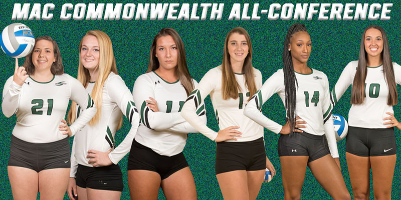 Six Collect MAC Commonwealth Women's Volleyball Honors, Bradbury, Schwartz Named First Team