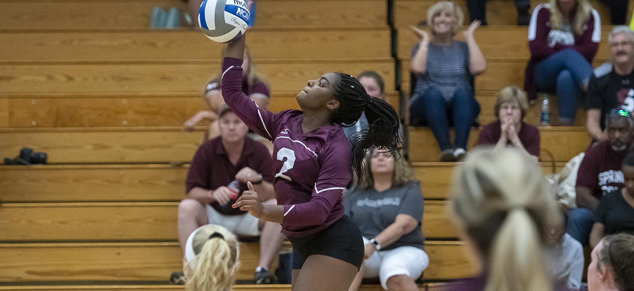 Women's Volleyball Pulls Away From Skidmore In Four Sets