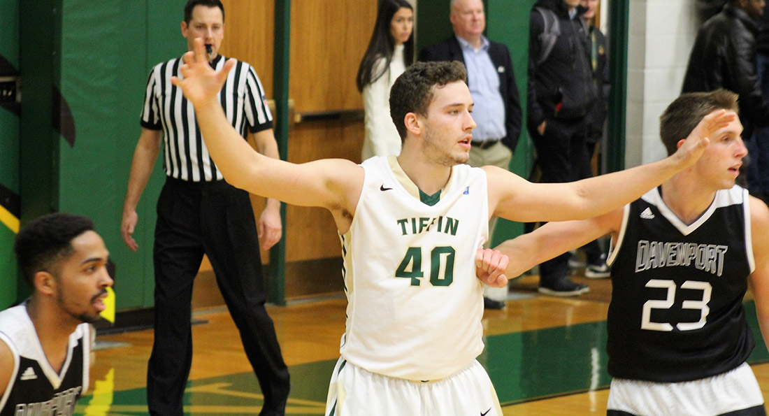 Shane Waldon scored 10 points in Tiffin's loss to Wayne State on 5 of 7 shooting from the field.