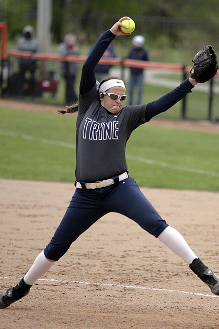 Danielle Ray, Trine, Softball Pitcher of the Week 3/12/18