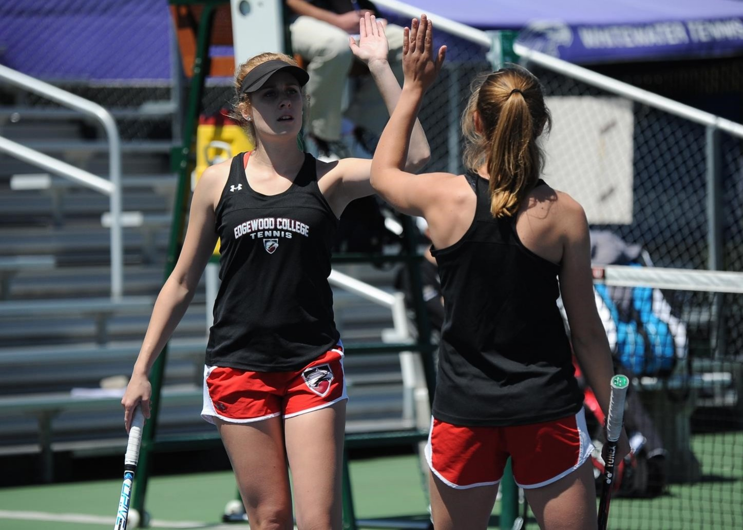 Edgewood fell to Carleton, 5-0, Friday in an NCAA Division III Women's Tennis Championship first-round match.
