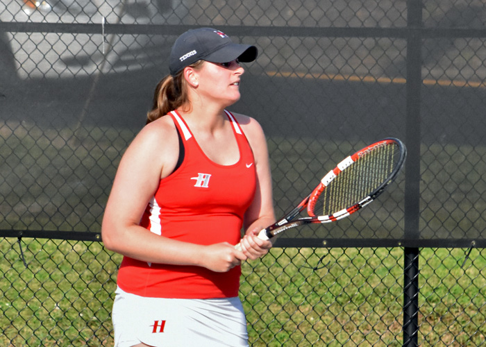 Heather Tabor won at No. 4 singles and No. 2 doubles in Huntingdon's win over Piedmont on Saturday.