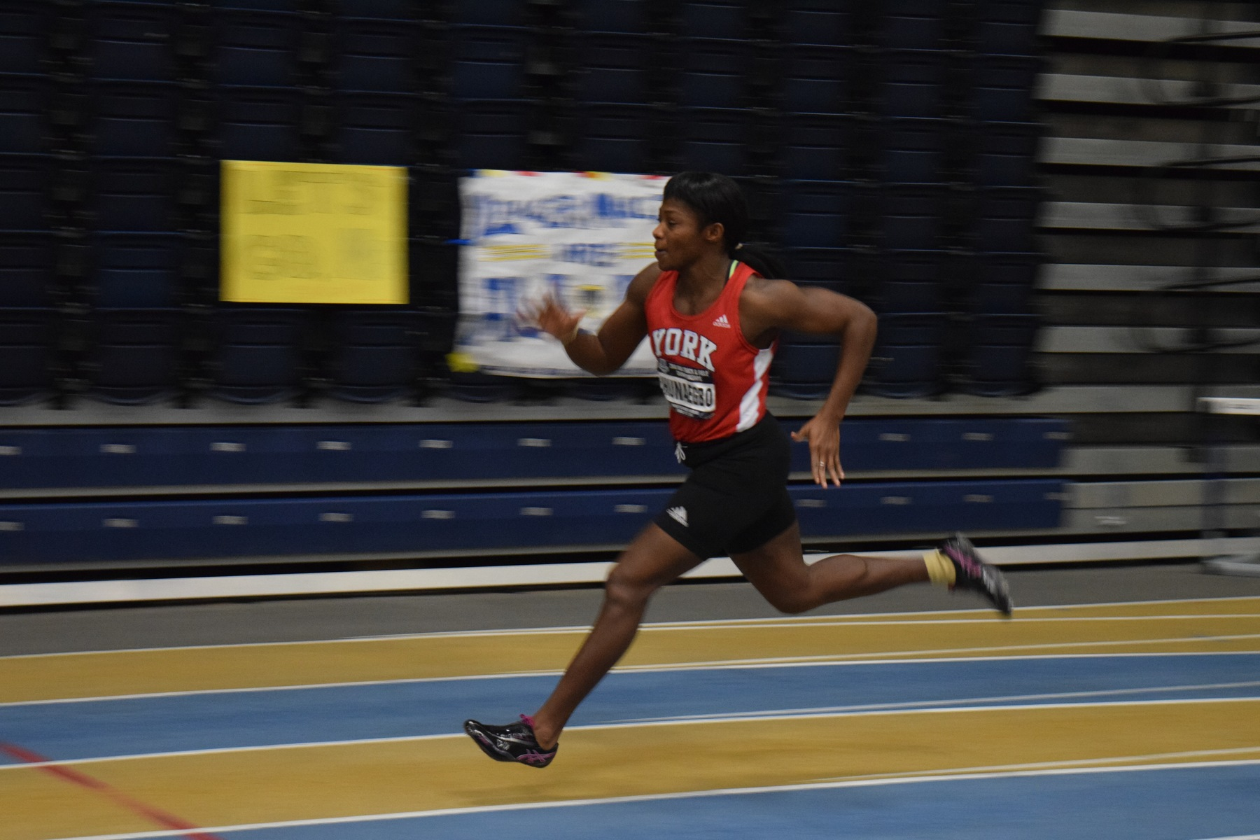Throughout the year Ihunaegbo finds herself balancing being a mother, a full-time fourth year student studying kinesiology and health sciences, a 400-metre runner for the York Lions, while also holding down a job to support her family.