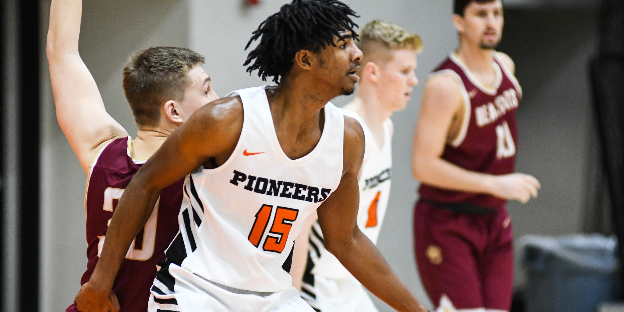 Strong first half leads Pioneers to first conference win