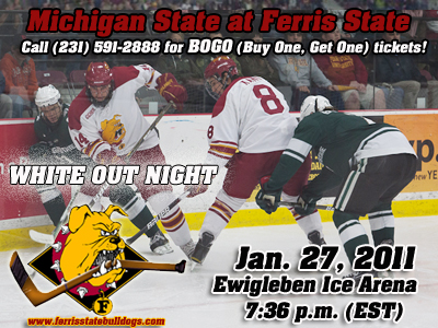 Ferris State Hosts Michigan State In A Thursday CCHA Matchup