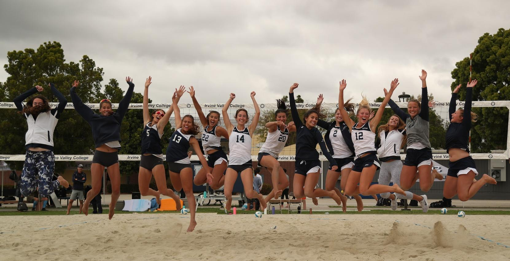 Beach volleyball team off to state with sweeps in regional