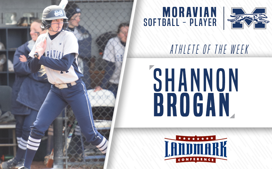 Shannon Brogan selected as Landmark Conference Softball Player of the Week.