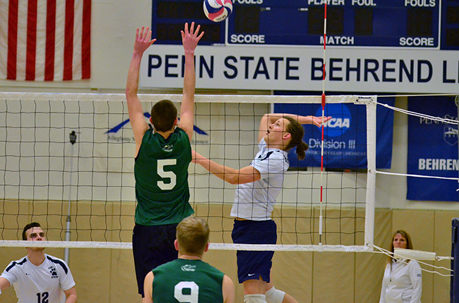 Men's Volleyball Takes Down Thiel in Four
