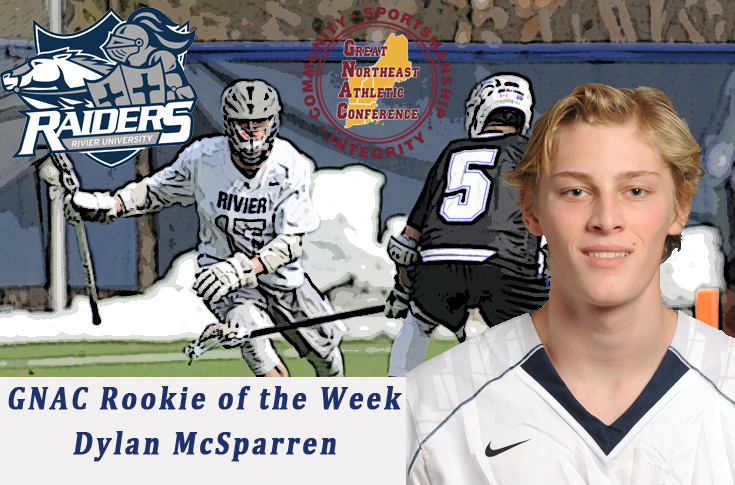 Men's Lacrosse: Dylan McSparren named GNAC Rookie of the Week, for the second time.
