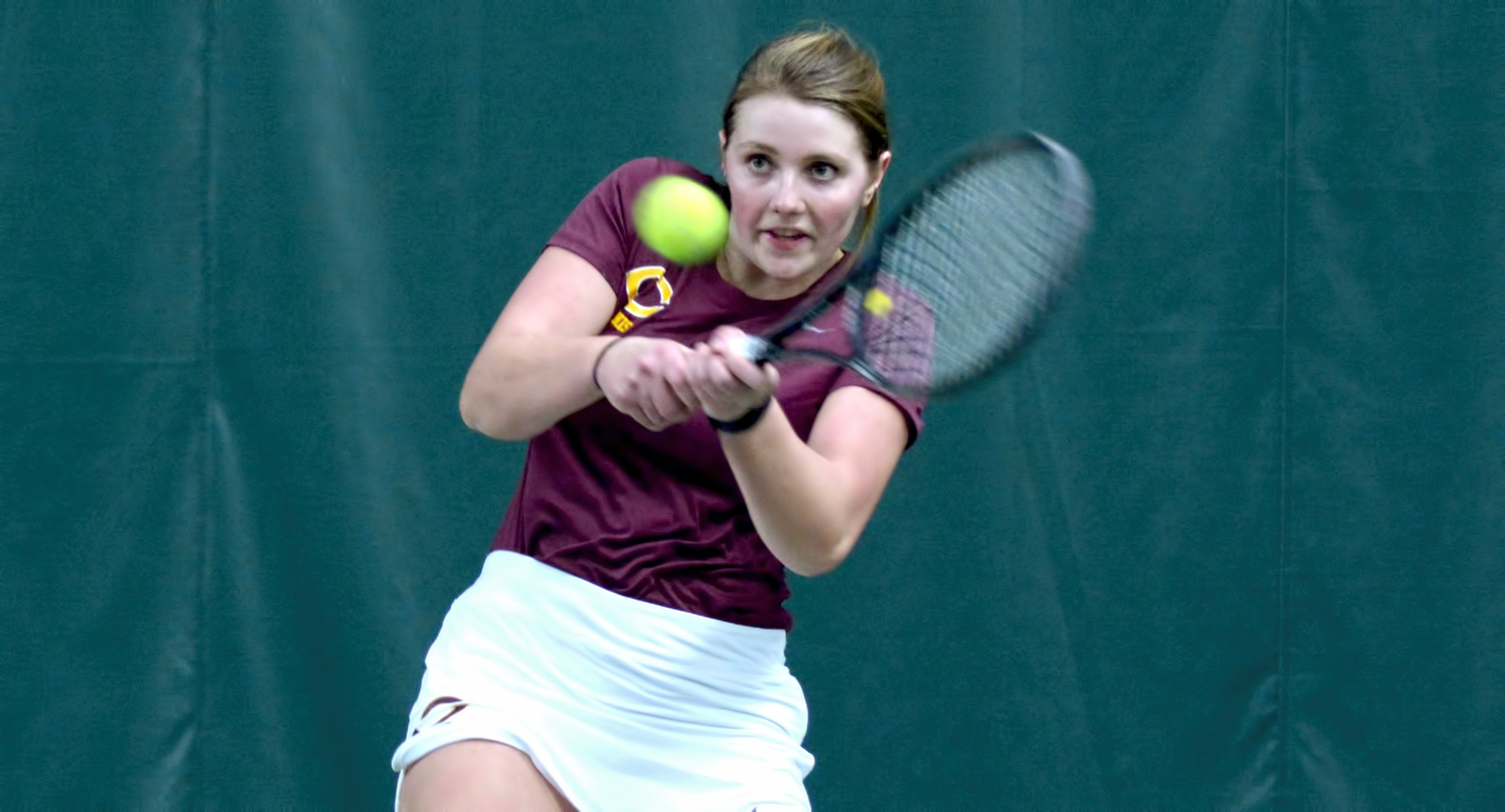 Kendra Stoick teamed with Lisa Neumann to earn a win at No.2 doubles in the Cobbers' conference opener at St. Benedict.