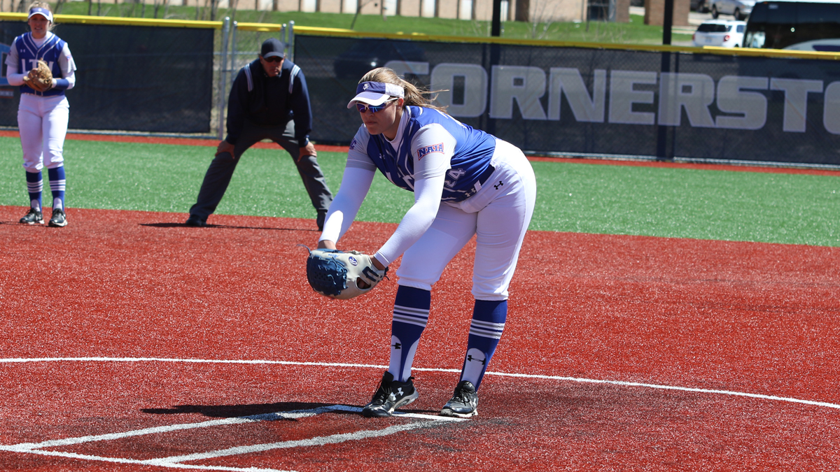 Blue Devils Sweep Golden Eagles in WHAC Doubleheader