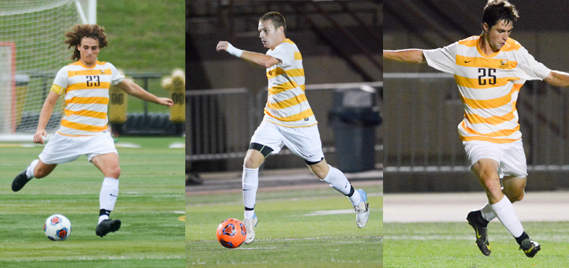 Junior defender JT Taubeneck, junior forward Logan Davis, sophomore All-OAC forward Danny Ruple