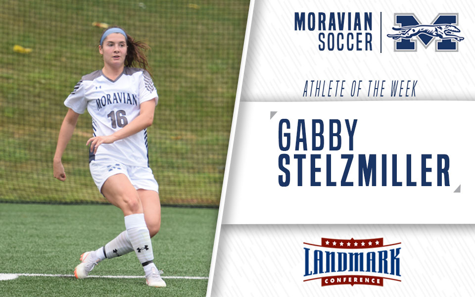 Gabby Stelzmiller selected as Landmark Conference Women's Soccer Offensive Athlete of the Week