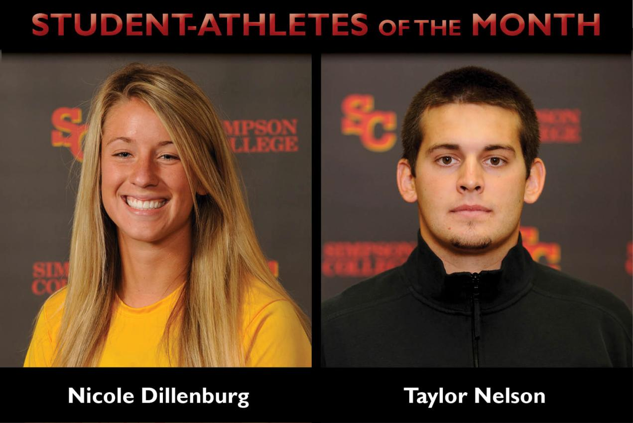 Dillenburg, Nelson named Student-Athletes of the Month