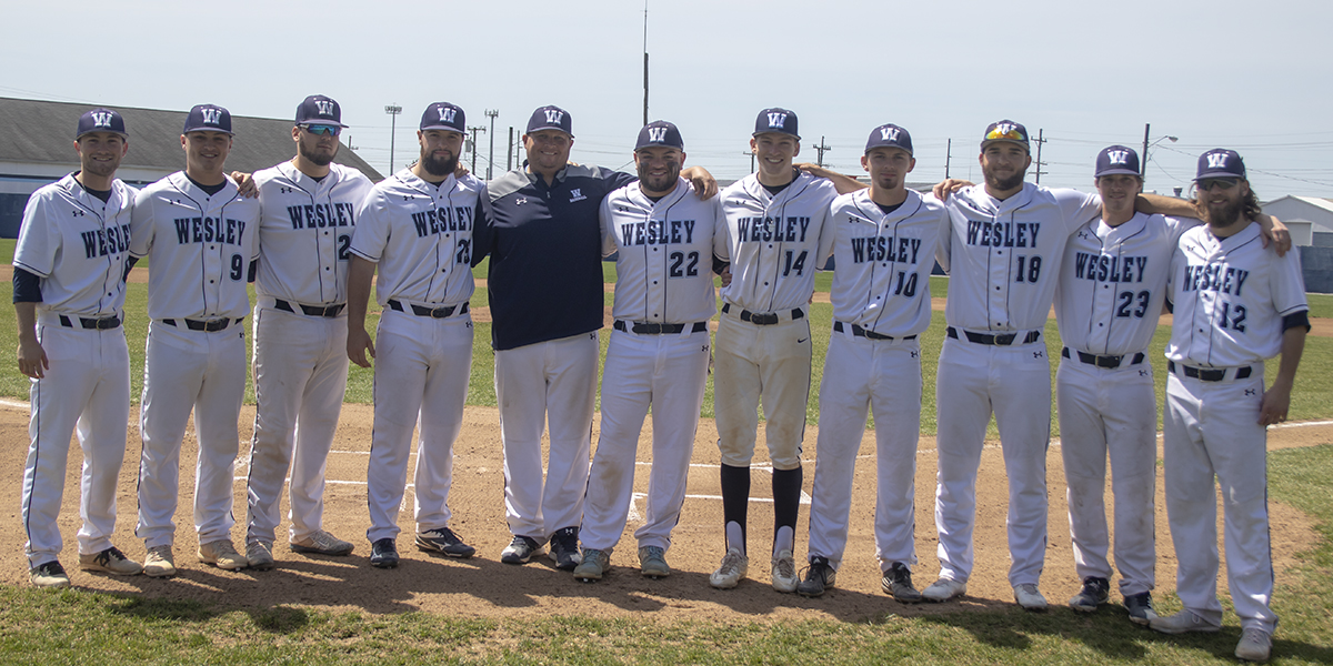 Baseball splits doubleheader on Senior Day against Marymount