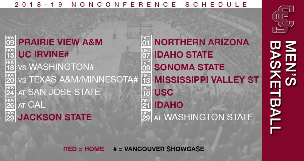 Men's Basketball Unveils 2018-19 Nonconference Schedule