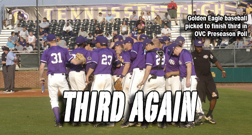 Tech baseball picked to finish third in OVC Preseason Poll