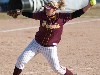 Kayle Stevenson tossed a four-hitter with seven strikeouts in the win over Southern Indiana.  (Photo by Ed Hyde)