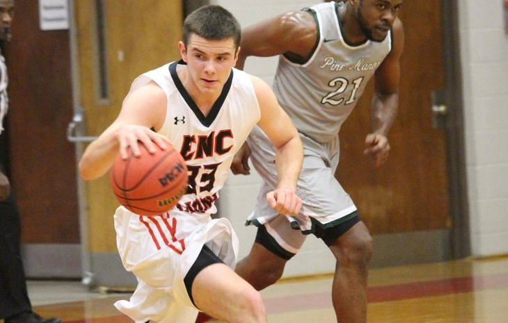 Strong Second Half Effort Lifts Men's Hoops to 93-73 Victory over Pine Manor