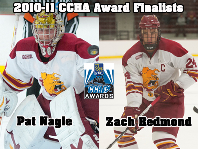 Two Ferris State Skaters Named 2010-11 CCHA Award Finalists