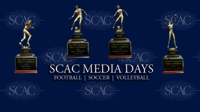 SCAC Media Days to Get Underway on Tuesday, September 4th