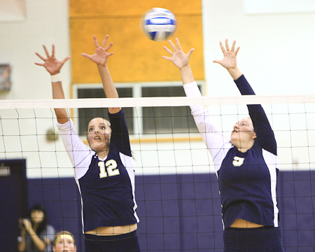 Bison earn split in non-conference volleyball doubleheader