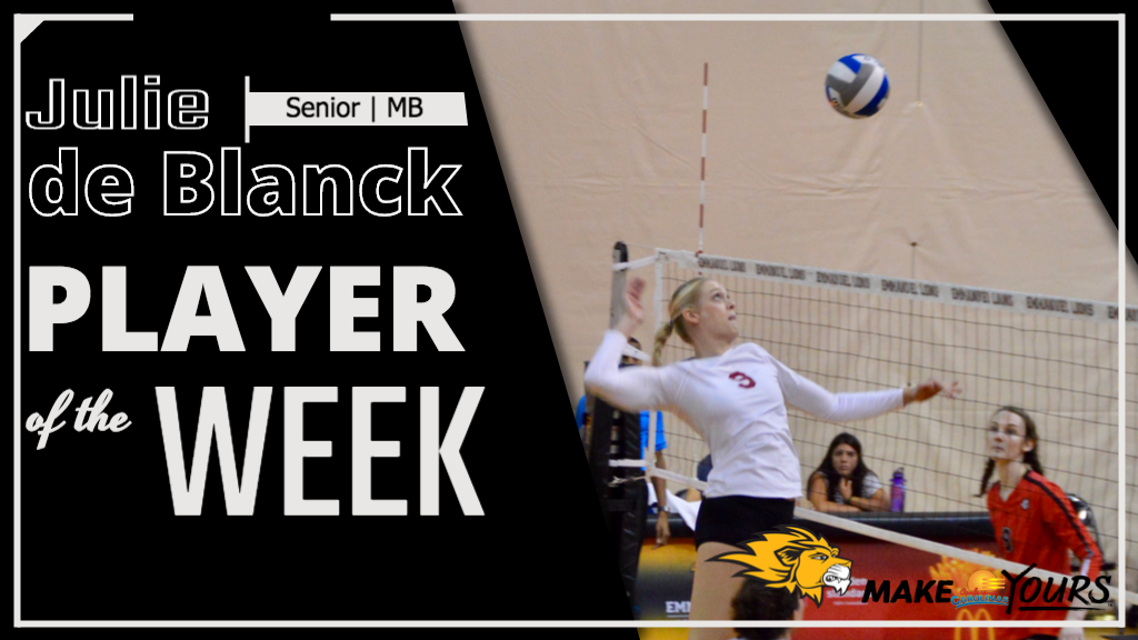 De Blanck Named Conference Carolinas Player of the Week Second Time