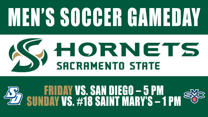 MEN'S SOCCER HOSTS SAN DIEGO, NATIONALLY RANKED SAINT MARY'S THIS WEEKEND